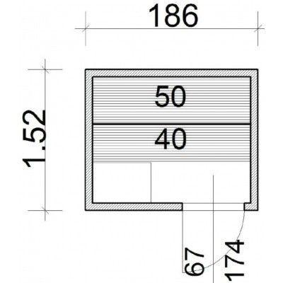 Afbeelding 37 van Azalp Elementsauna 186x152 cm, elzen