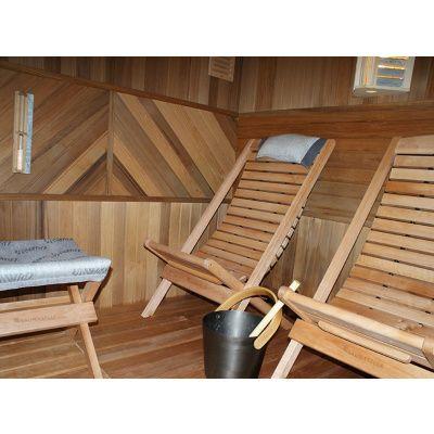 Bild 5 von Saunasella Saunastuhl Holz 60x77x93 cm