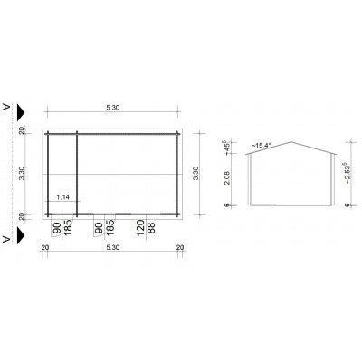 Bild 9 von Azalp Blockhaus Karlijn 550x350 cm, 45 mm