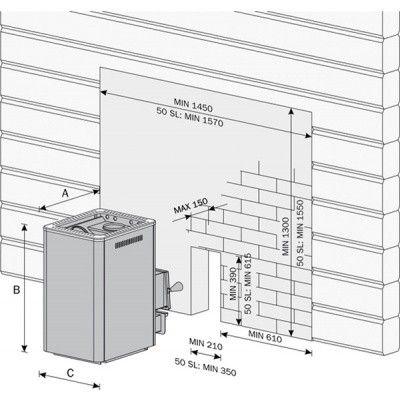 Afbeelding 2 van Harvia Houtkachel 20 SL Boiler (WK200BSL)