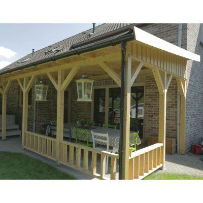 Bild 3 von Azalp Terrassenüberdachung Holz 550x350 cm
