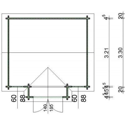 Bild 12 von Azalp Blockhaus Essex 400x350 cm, 45 mm