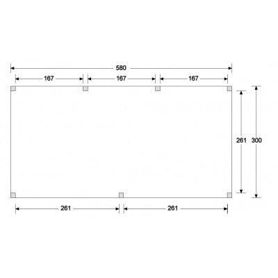Afbeelding 6 van WoodAcademy Graniet excellent Douglas blokhut 580x300 cm
