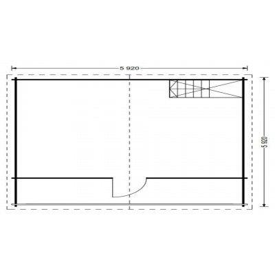 Afbeelding 6 van Graed Livington Chalet 600x600 cm, 44 + 44 mm (Dubbelwandig)