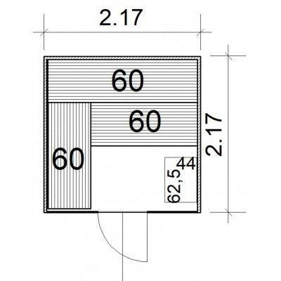 Afbeelding 4 van Azalp Massieve sauna Rio Glass 217x217 cm, 39 mm