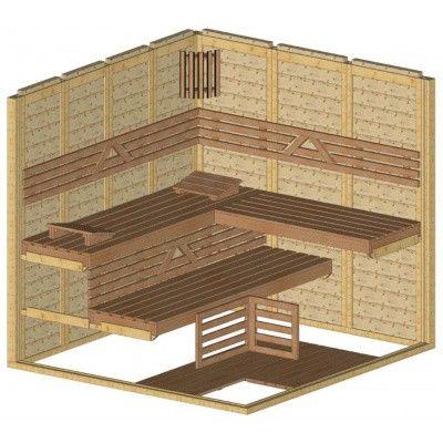 Afbeelding 43 van Azalp Massieve sauna Genio 220x210 cm, 45 mm