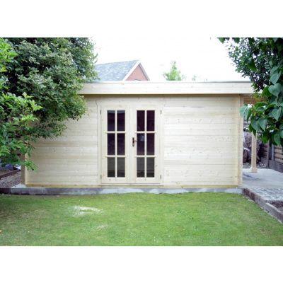 Bild 14 von Azalp Blockhaus Sven 350x350 cm, 45 mm