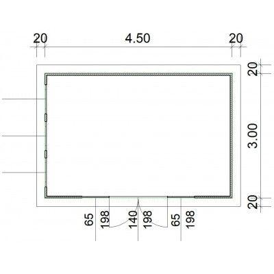 Bild 2 von SmartShed Blockhaus Zenon 450x300 cm, 30 mm