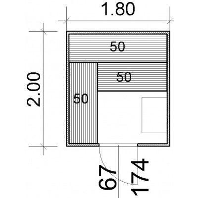 Afbeelding 43 van Azalp Massieve sauna Genio 180x200 cm, 45 mm