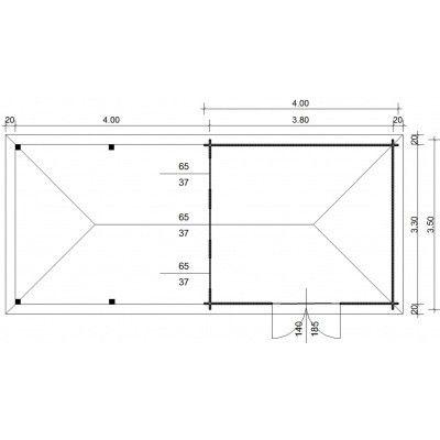 Afbeelding 23 van Azalp Blokhut Cas 790x350 cm, 45 mm