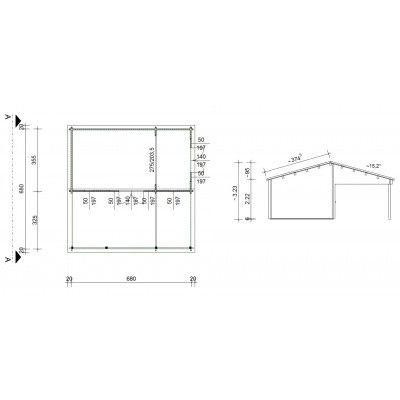 Bild 46 von Azalp Blockhaus Ben 700x700 cm, 60 mm