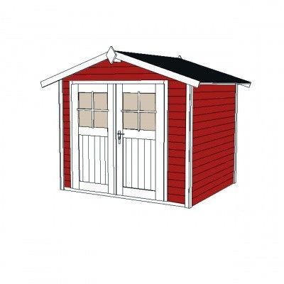 Afbeelding 3 van Weka Tuinhuis 122 Gr. 5 Zweeds rood