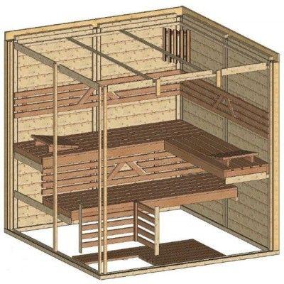 Afbeelding 44 van Azalp Massieve sauna Genio 200x200 cm, 45 mm