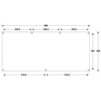 Afbeelding 6 van WoodAcademy Onyx Excellent Douglas Overkapping 680x300 cm