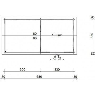 Bild 38 von Azalp Blockhaus Marnix 700x350 cm, 45 mm