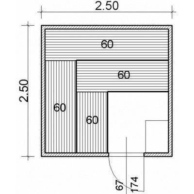 Afbeelding 43 van Azalp Massieve sauna Genio 250x250 cm, 45 mm
