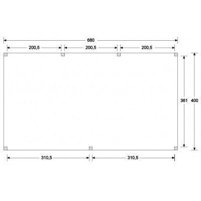 Afbeelding 6 van WoodAcademy Nobility Nero Tuinhuis 680x400 cm