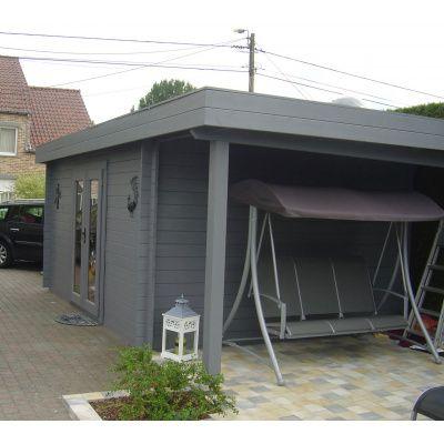 Bild 26 von Azalp Blockhaus Sven 500x550 cm, 45 mm