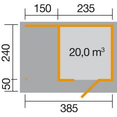 Bild 2 von Weka Designhaus 172 A Gr.1, 385x240 cm anthrazit