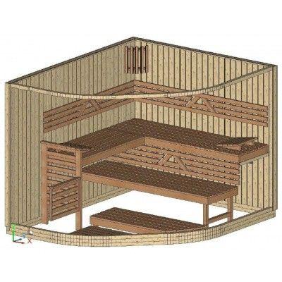 Bild 19 von Azalp Sauna Runda 263x220 cm, Espenholz