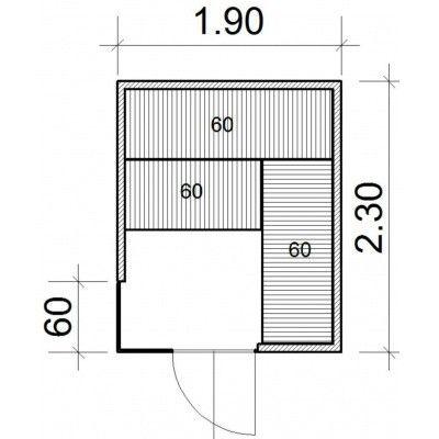 Afbeelding 34 van Azalp Sauna Luja 190x230 cm, 45 mm