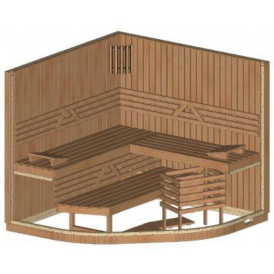 Afbeelding 8 van Azalp Sauna Runda 220x220 cm elzen