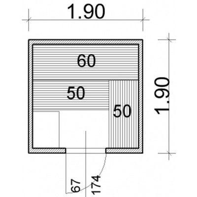 Afbeelding 43 van Azalp Massieve sauna Genio 190x190 cm, 45 mm