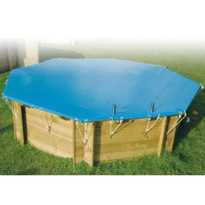 Hoofdafbeelding van Ubbink afdekzeil voor Azura 750 x 400 cm (8-hoekig) ovaalvormig zwembad