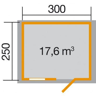 Bild 2 von Weka Gartenhaus Premium28 FT Gr. 2 300cm