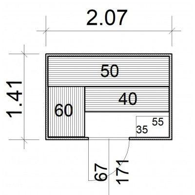 Afbeelding 5 van Azalp Massieve sauna Rio Standaard 207x141 cm, 39 mm