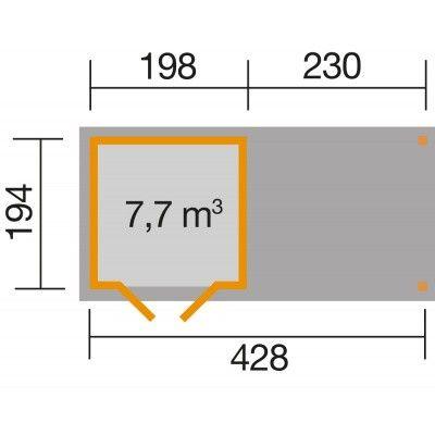 Bild 2 von Weka Gartenhaus 321B Gr. 1 Anbau 230cm