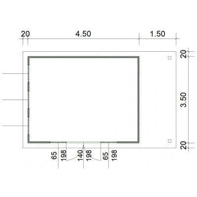 Afbeelding 3 van SmartShed Blokhut Isidro 450x350 cm, 30 mm