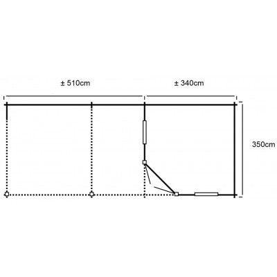 Afbeelding 20 van Interflex 3555Z, zijluifel 500 cm, geïmpregneerd