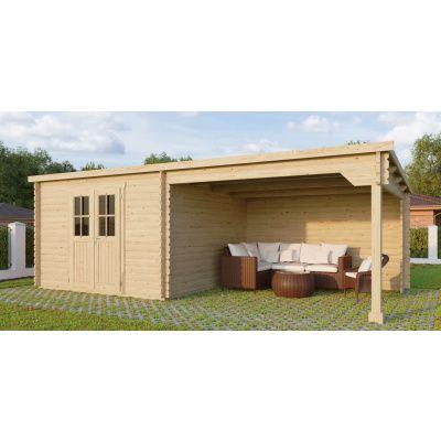 Bild 29 von Azalp Blockhaus Sanne 600x250 cm, 30 mm
