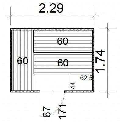 Afbeelding 5 van Azalp Massieve sauna Rio Standaard 229x174 cm, 39 mm