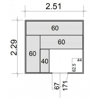 Afbeelding 5 van Azalp Massieve sauna Rio Standaard 251x229 cm, 39 mm