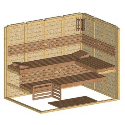 Afbeelding 43 van Azalp Massieve sauna Genio 250x180 cm, 45 mm