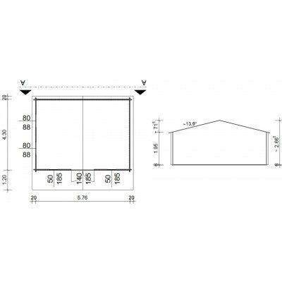 Bild 5 von Azalp Blockhäuser Stefan 596x450 cm, 45 mm