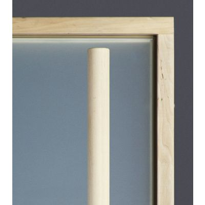 Afbeelding 3 van Ilogreen Saunadeur Exclusive (Elzen) 209x89 cm, melkglas