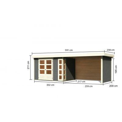 Bild 2 von Woodfeeling Kerko 4 mit Veranda 280 cm (82947)