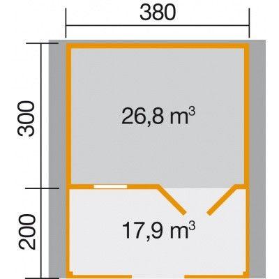 Bild 2 von Weka Gartenhaus 136B Gr. 1 mit Veranda