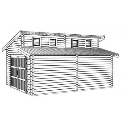 Afbeelding 8 van Graed Twin Garage 400x595 cm, 44 mm