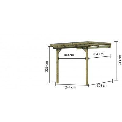 Afbeelding 4 van Karibu Terrasoverkapping Eco Model 2 Grote A (64624)