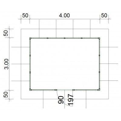 Afbeelding 4 van SmartShed Blokhut Amando 400x300 cm, 45 mm