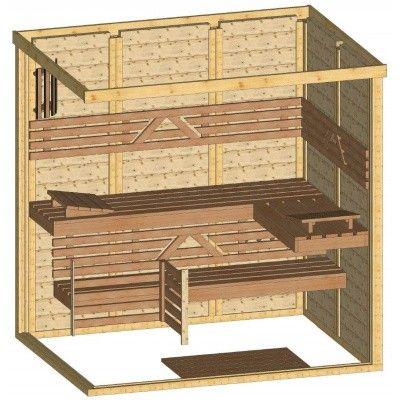 Afbeelding 44 van Azalp Massieve sauna Genio 200x150 cm, 45 mm