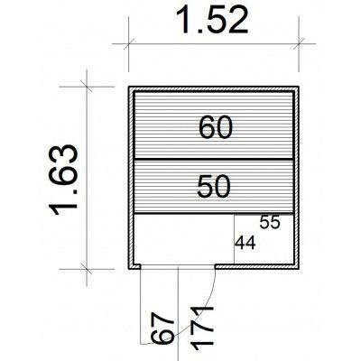 Afbeelding 5 van Azalp Massieve sauna Rio Standaard 152x163 cm, 39 mm