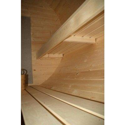 Afbeelding 10 van Azalp Buitensauna Barrel 207x380 cm in 45 mm