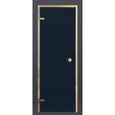 Hoofdafbeelding van Ilogreen Saunadeur Trend (Elzen) 189x69 cm, blauwglas