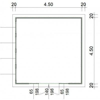 Bild 2 von SmartShed Blockhaus Zenon 450x450 cm, 45 mm