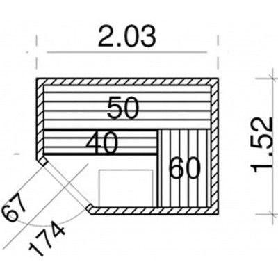 Afbeelding 52 van Azalp Elementhoeksauna 203x152 cm, elzen